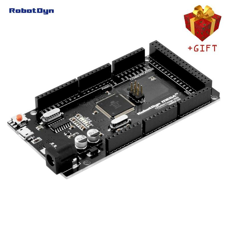 Mega 2560 R3 CH340G/ATmega2560-16AU, Microusb. Compatibile per Arduino Mega 2560. Con Bootloader.