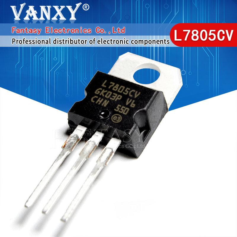 10 قطعة L7805CV TO220 L7805 إلى 220 L7806CV L7808CV L7809CV L7812CV L7815CV L7824CV L7905CV L7908CV L7909CV L7912CV L7915CV L7924CV