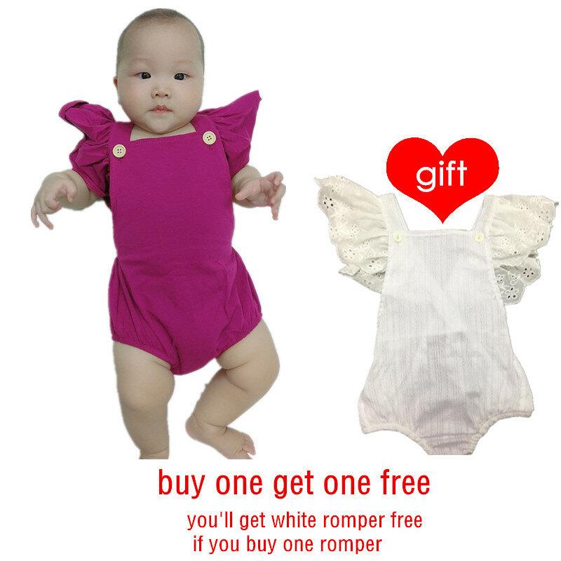 Tuta da bambino con maniche a volant estive per bambina pagliaccetto per neonato 0-2 anni 2021 nuovo acquista uno prendi uno gratis 32
