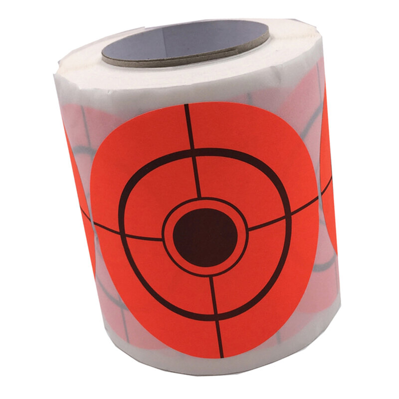 250 pz/rotolo obiettivi adesivi Target in carta autoadesiva arancione