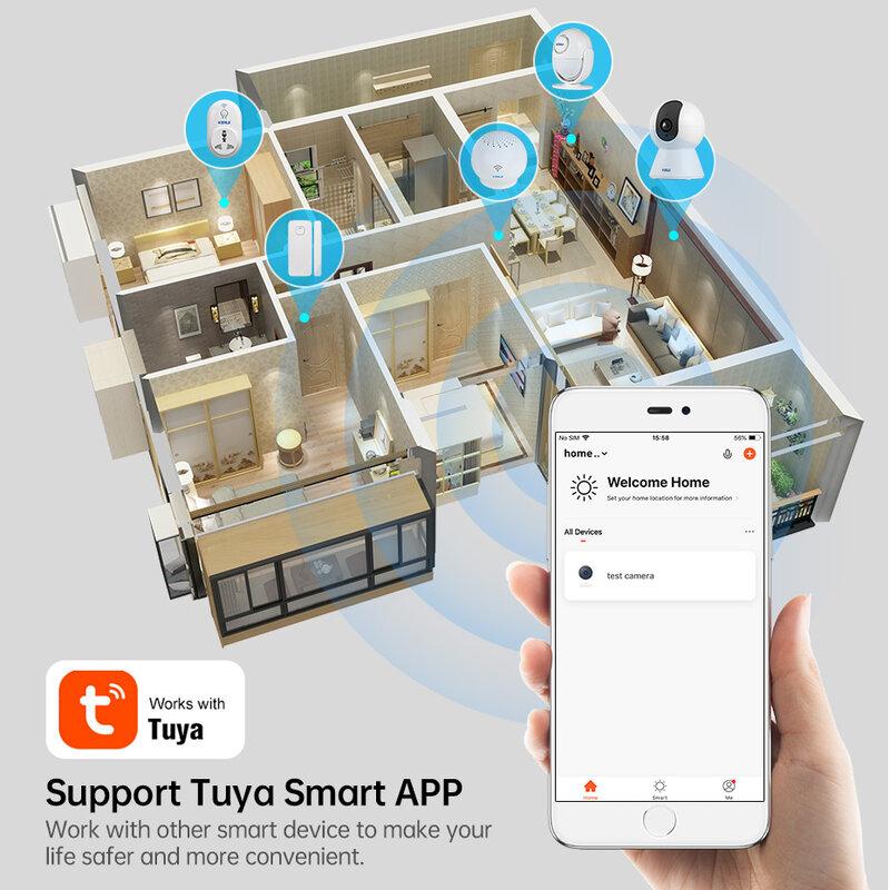 KERUI-minicámara IP inteligente Tuya, 1080P, Wifi, seguridad interior, inalámbrica, para el hogar, vigilancia CCTV, 2MP, seguimiento automático, visión nocturna