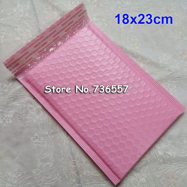 25 stücke 50 stücke Pink180x230mm Poly blase Mailer umschläge rosa gepolsterte Mailing Bag Selbst Dicht