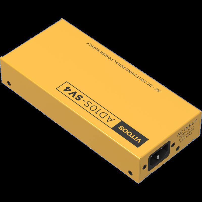 VITOOS AD10S-SV4 Pedal Power Supply เต็มตัวกรองแยก Ripple ลดเสียงรบกวน High Power Digital Effector