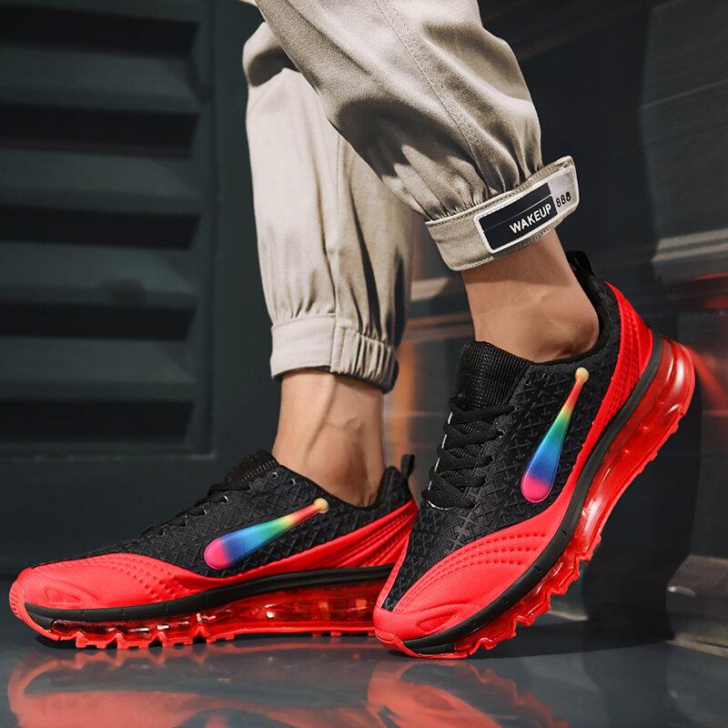 Damyuan Zapatos Para Correr Con Colchón De Aire 44 Para Hombre Zapatillas Deportivas Transpirables A La Moda Cómodas Informales Para Correr 45 Bestdealplus
