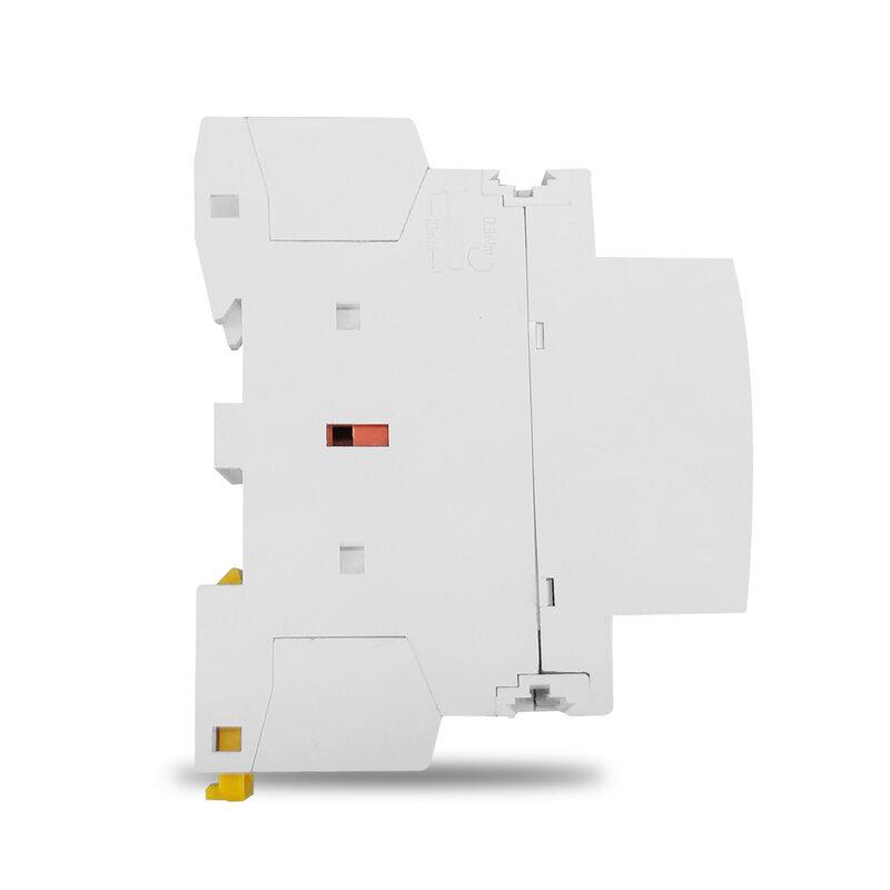 TOCT1 2P 25A 220 فولت/230 فولت 50/60 هرتز Din السكك الحديدية المنزلية التيار المتناوب وحدات قواطع 2NO 2NC أو 1NO 1NC