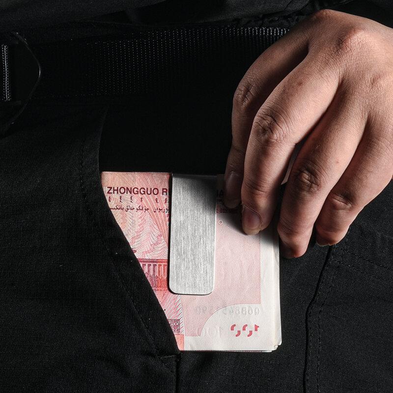 사용자 정의 레터링 커플 머니 클립 지갑 슬림 포켓 현금 ID 신용 카드 머니 홀더 스테인레스 스틸 황동 빌 클립 클램프