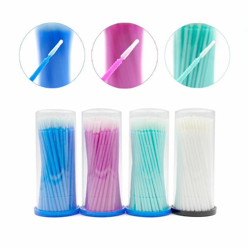 100 stücke Einweg Microbrushes Für Wimpern Verlängerung Make-Up Baumwolle Tupfer Mascara Applikator Individuelle Wimpern Entfernen Werkzeuge