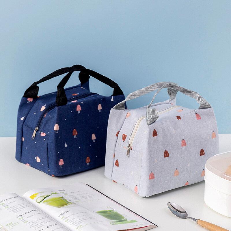 휴대용 점심 가방 여성 식품 열 주머니 어린이 학교 식료품 저장 패키지 피크닉 과일 스낵 신선한 핸드백 Supplie 유지