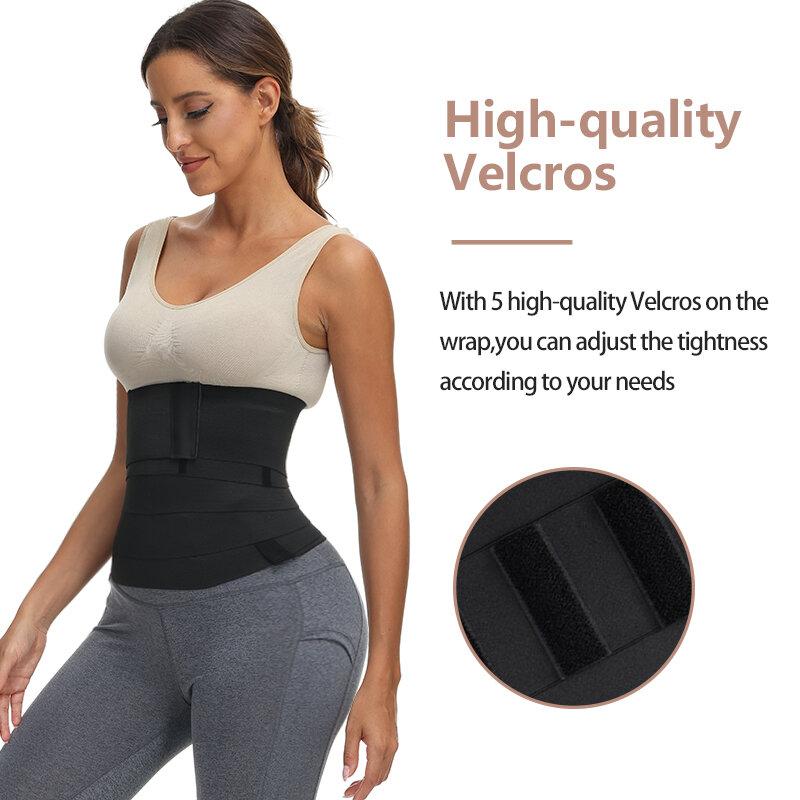 พรีเมี่ยม Snatch Me ร้อนผ้าพันแผลการบีบอัด Sheath Tummy Control Body Shaper Slimming เข็มขัดฟรีขนาดเหงื่อซาวน่า Shapewear