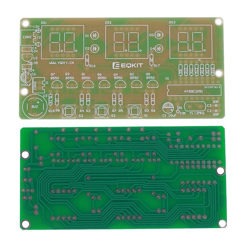 C51 6 بت أنبوب ساعة رقمية لتقوم بها بنفسك عدة منبه إلكتروني مع الطنان LED عرض مكونات لحام الممارسة جناح