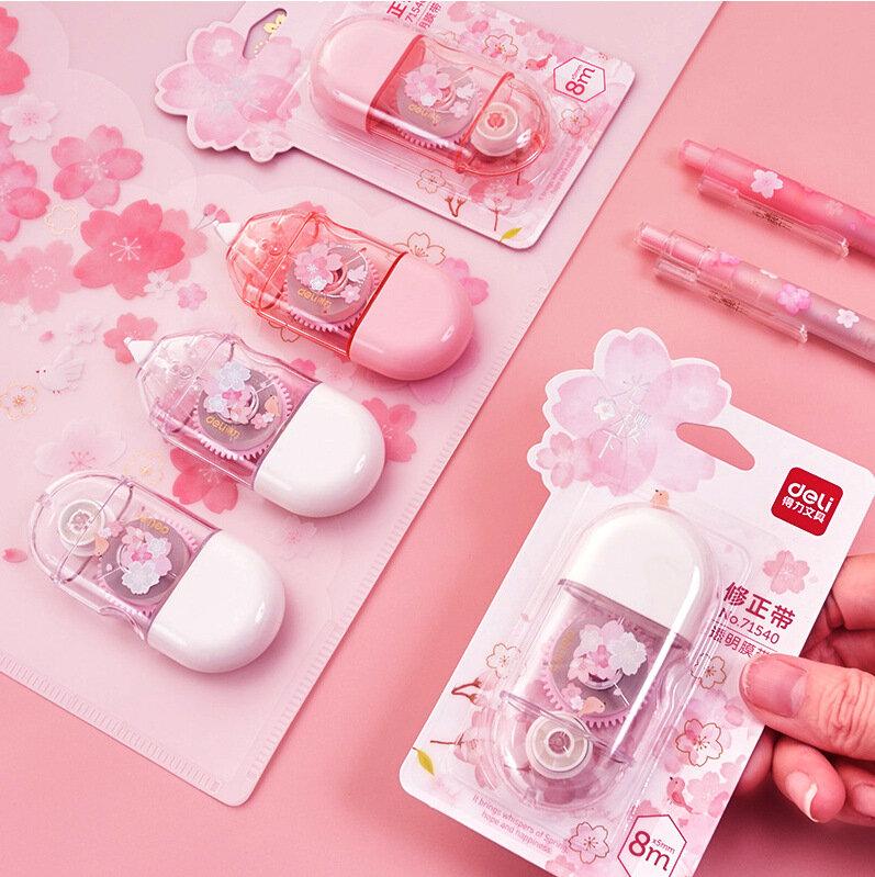 24 pz/lotto Kawaii Cherry correzione nastro carino grande capacità nastri promozionali cancelleria regalo scuola forniture per ufficio