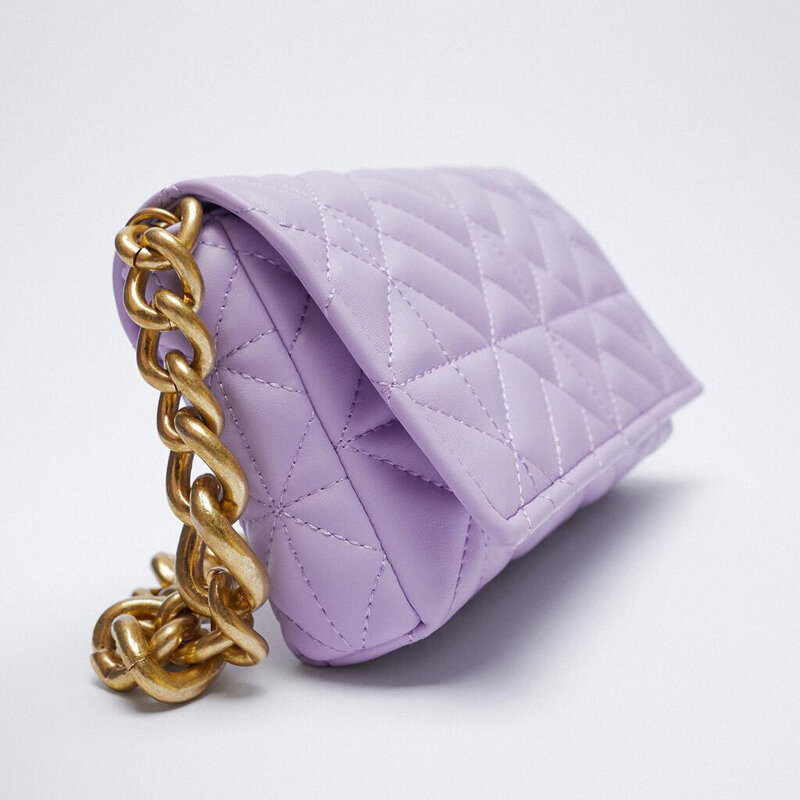 Branded Women's Shoulder Bags 2021 Thick Chain Quilted Shoulder Purses And Handbag Women Clutch Bags Ladies Hand Bag