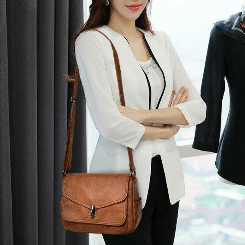 패션 여성 가죽 가방 고품질 럭셔리 숙녀 어깨 가방 여성 디자이너 크로스 바디 메신저 가방 여성용