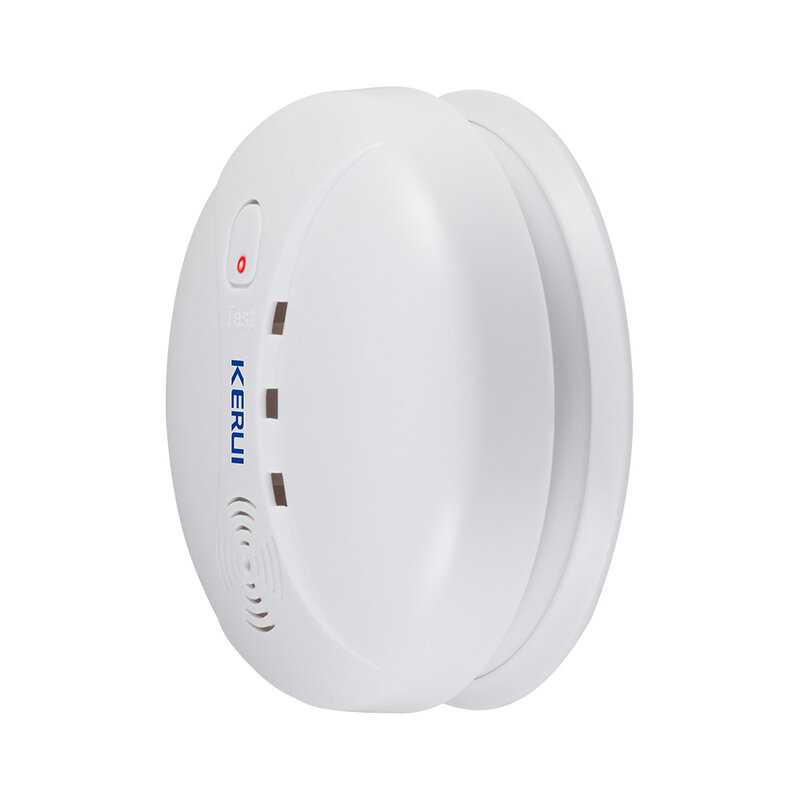 KERUI-Detector de humo inalámbrico GS04 433MHz, Sensor de fuego para G18 W18 GSM WiFi, sistema de alarma de seguridad para hogar, sistemas de alarma de Dial automático
