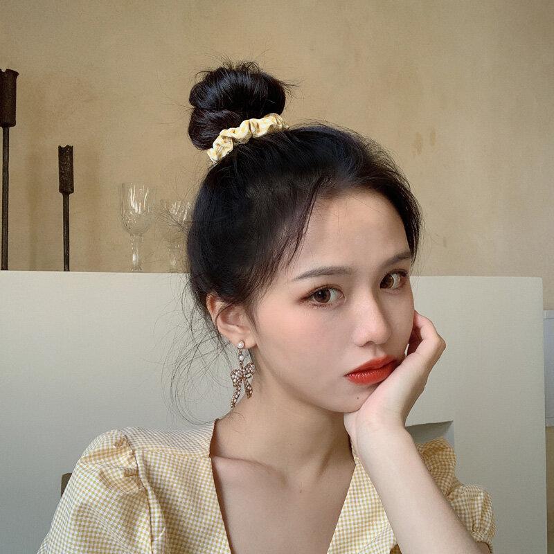 BM-cinta para el pelo con forma de círculo de cerdo, diadema francesa, cabeza femenina Simple para banda de goma, adorno de flores, Corea del Sur