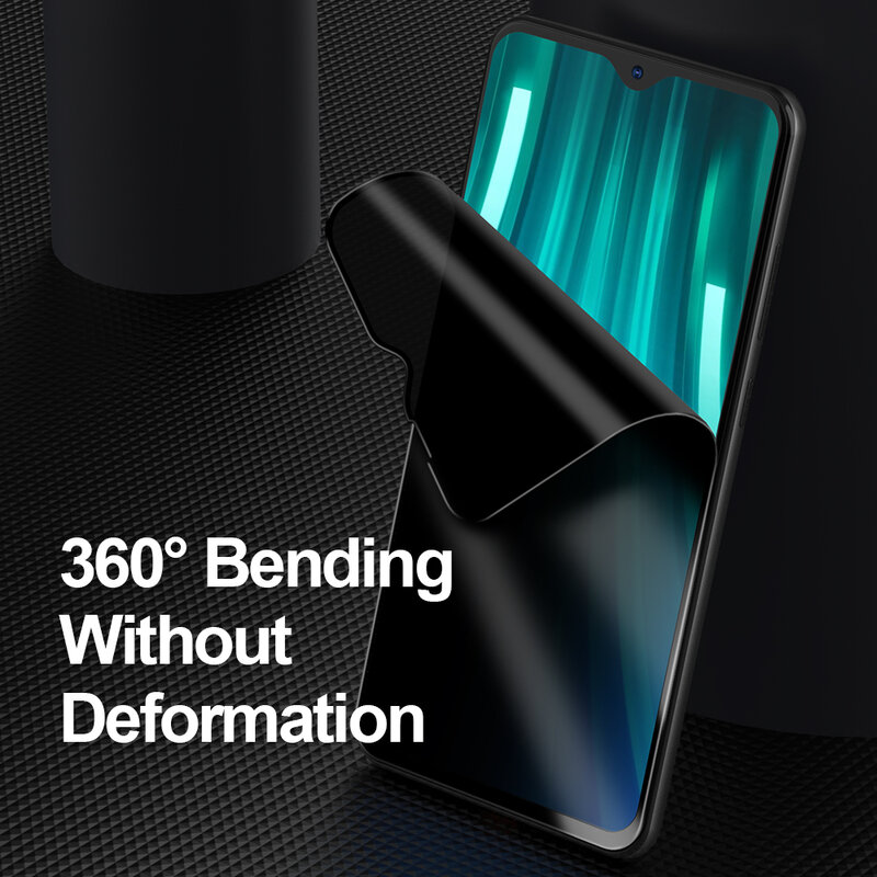 Ellie 0,3mm Flim Für Xiaomi Redmi Hinweis 8 Matte Anti-Spy Anti-Fingerprint Screen Protector Für Xiaomi redmi Hinweis 8
