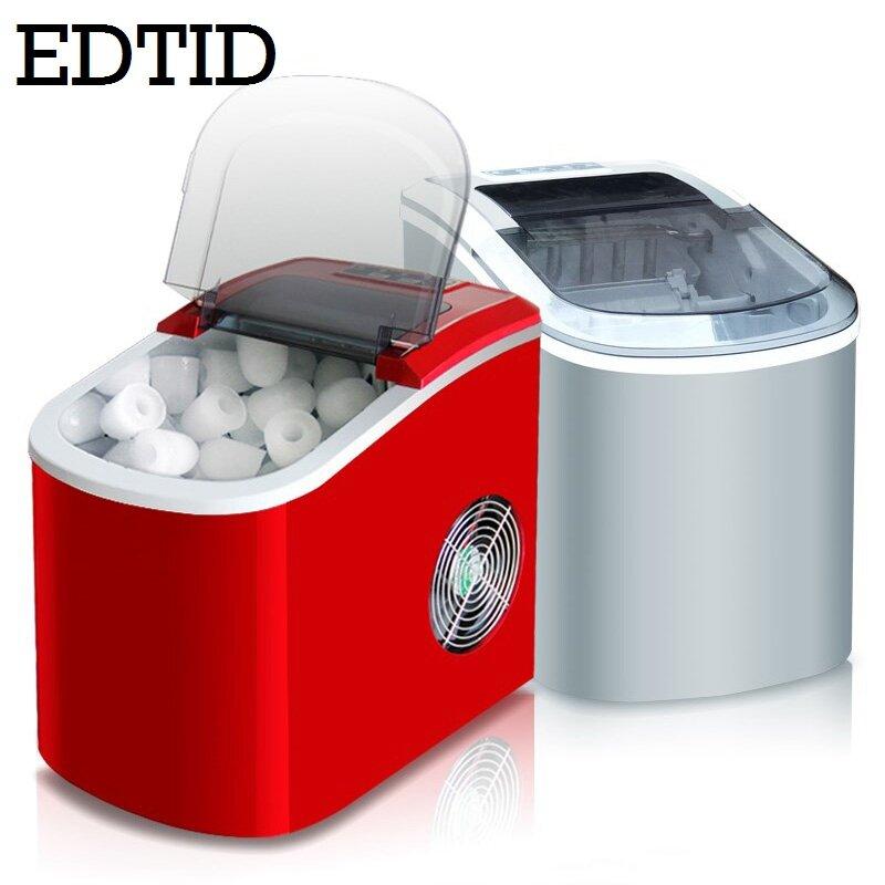 Machine à glaçons électrique automatique Portable, mini machine à glaçons de forme carrée, 20kg/24H, pour la maison, petit bar, café