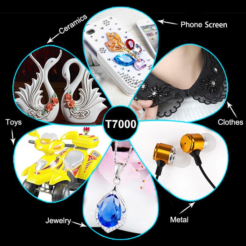 Schwarz 110ml T7000 Telefon Glas Display Super Kleber Leder Metall Kunststoff Klebstoff T-7000 Textil Stoff Kleidung T8000 T9000 T5000
