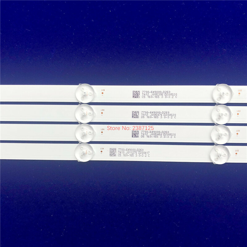 1set = 4pcs LED 백라이트 스트립 9 램프 JL.D49091330-001FS-M