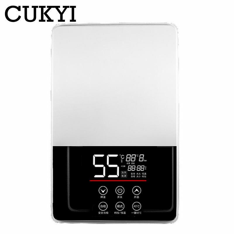 CUKYI scaldabagno termostatico elettrico 7000W telecomando riscaldamento istantaneo scaldabagno senza serbatoio impermeabile per vasca da bagno