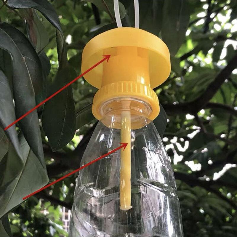 Obst Fliegenfalle Mörder Kunststoff Gelb Drosophila Falle Fliegenfänger pest Insekt control Für Hause Bauernhof Obstgarten 6*6*2 cm