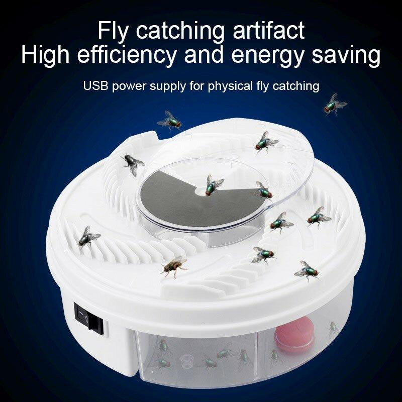 USB Elektrische Fliegenfalle Gerät Flycatcher Automatische Trapping Lebensmittel Fly Fly Catcher Insekt Pest Fliegenfalle Küche Hause Typ Fliegenfalle