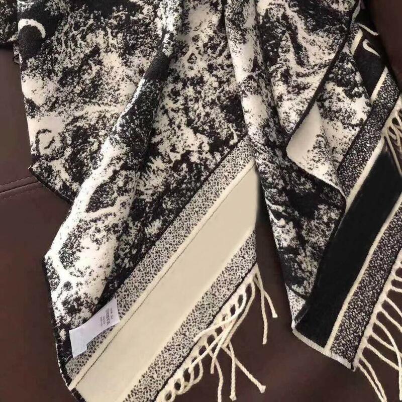180*70 CM แคชเมียร์ยาวผ้าพันคอผู้หญิงผู้หญิงผ้าคลุมไหล่2021ฤดูใบไม้ร่วงฤดูหนาวยี่ห้อ