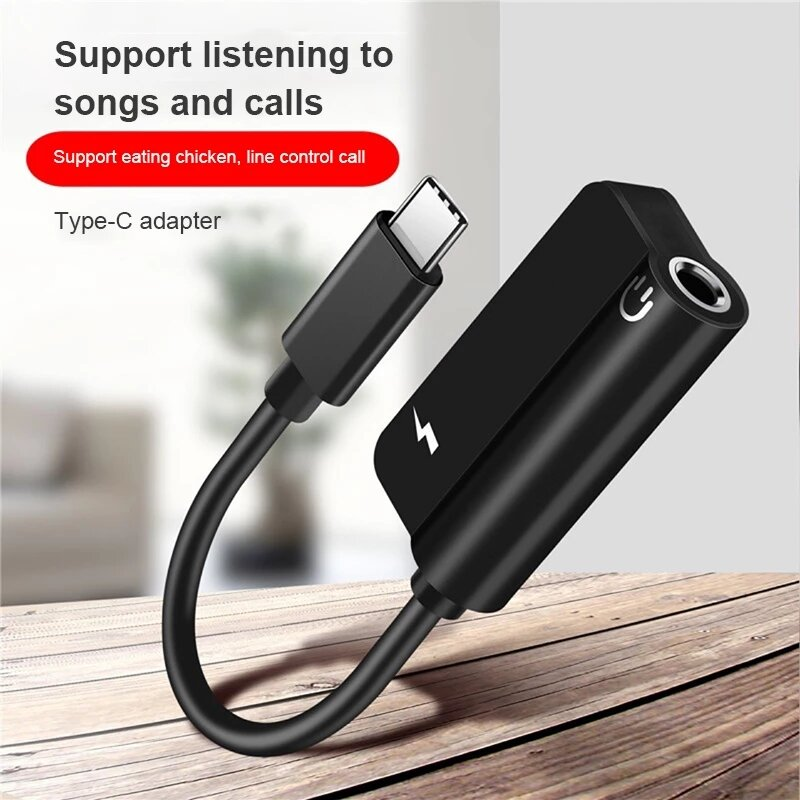 Type C 3.5mm Aux Headphones Adapter Audio Cable For Samsung S21 S20 Fe Xiaomi Redmi Note 10 Huawei P30 Android Phone Accessories