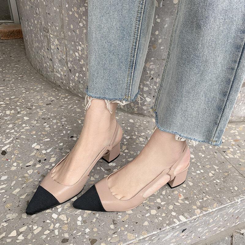 Sapatos femininos em 2022 Color block