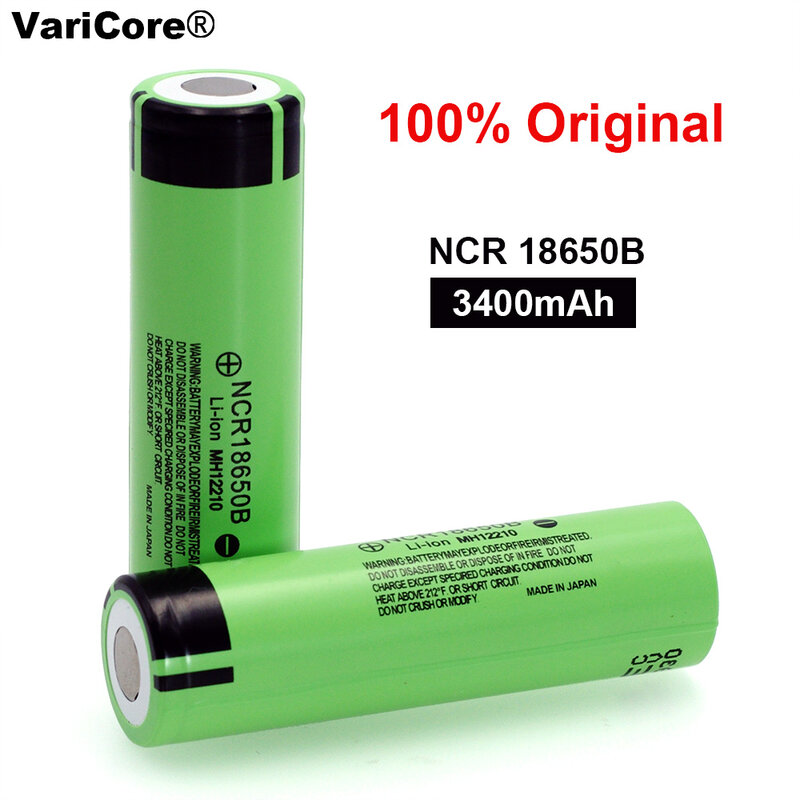 100% neue Original NCR18650B 3,7 v 3400mah 18650 Lithium-Akku Für Taschenlampe batterien