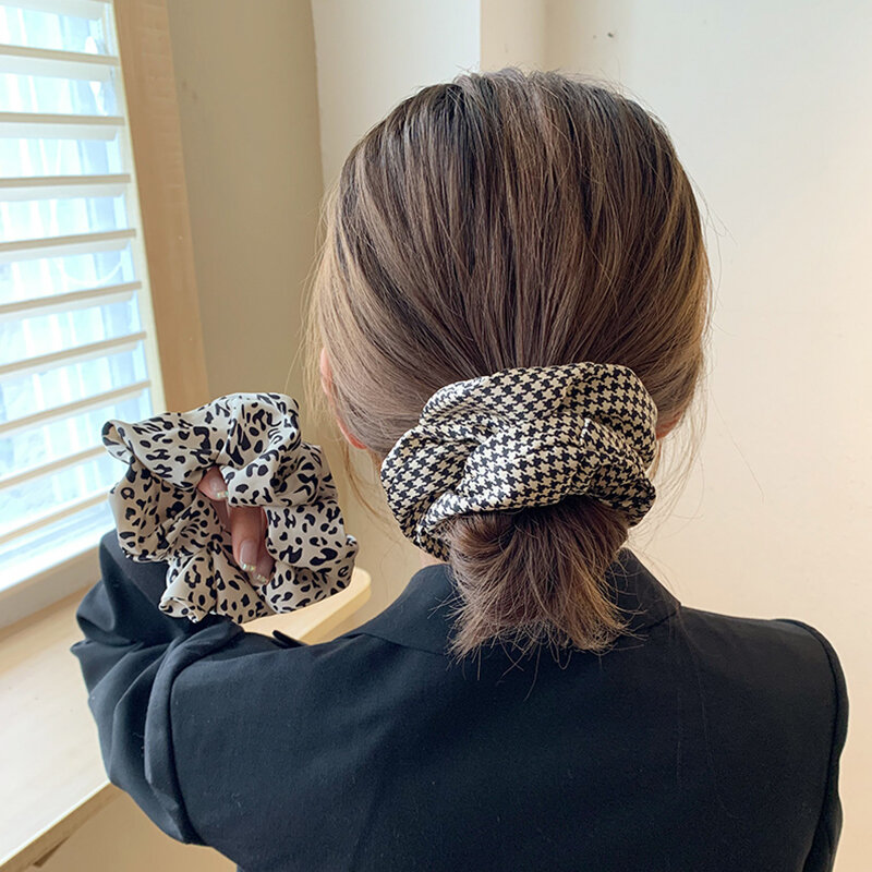 Big Brand Style 2 Pack ~ Large Intestine Hair Ring Ins Korean Style Elegant Headband Female Simple Temperament Online Celebrity
