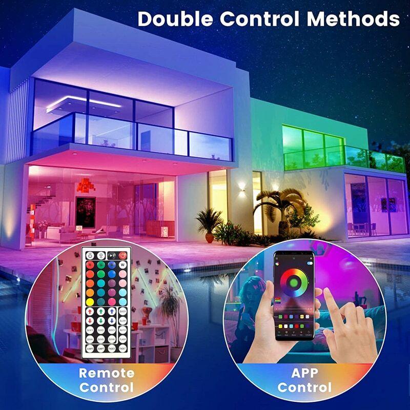 Led 스트립 조명 Luces Fita 30m TUYABluetooth Wifi 컨트롤러 5050 장식 백라이트 램프 야간 조명 빛나는 문자열