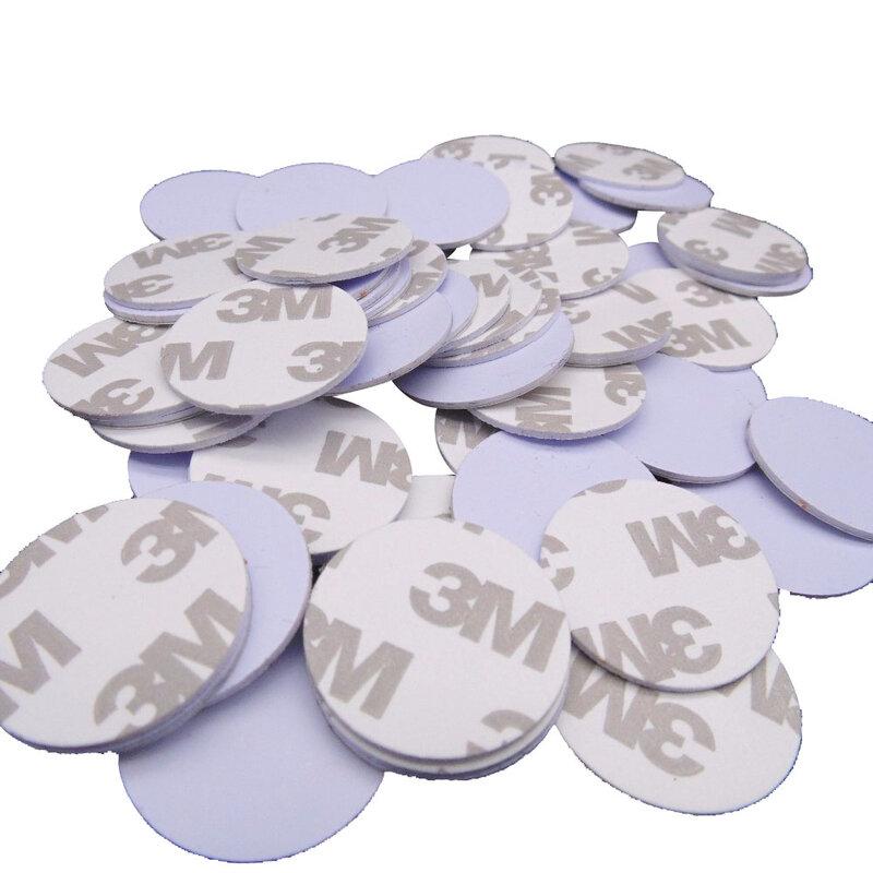 Etiquetas inteligentes para Control de acceso, RFID, 125khz, 3M, 25mm, tarjetas de Control de acceso de solo lectura, TK4100(EM4100), 10 unids/lote