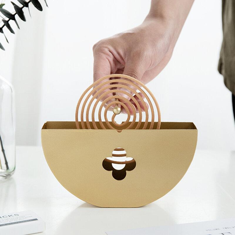 Moskito Spule Halter Box Eisen Kunst Sandelholz Mückenschutz Spule Regal Weihrauch Platte Feuerfeste Dekoration Handwerk Ornament