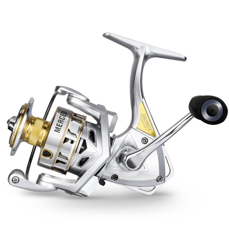 ตกปลา RUNCL Spinning Reel 11กก.ลากสูงสุด5.2:1ความเร็วสูงโลหะ Spool น้ำเค็ม Reel ปลาคาร์พตกปลาตกปลาน้ำหนักเบาส่งสา...