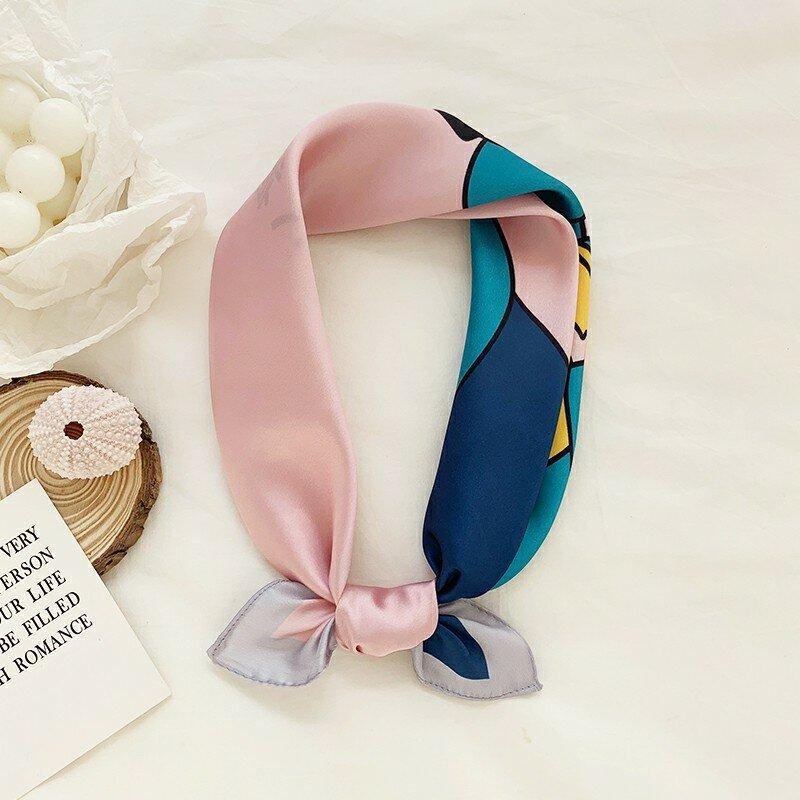 Bufanda japonesa elegante para mujer, banda para el pelo con toalla pequeña cuadrada para estudiantes, bufanda fina a juego, primavera y otoño, nueva