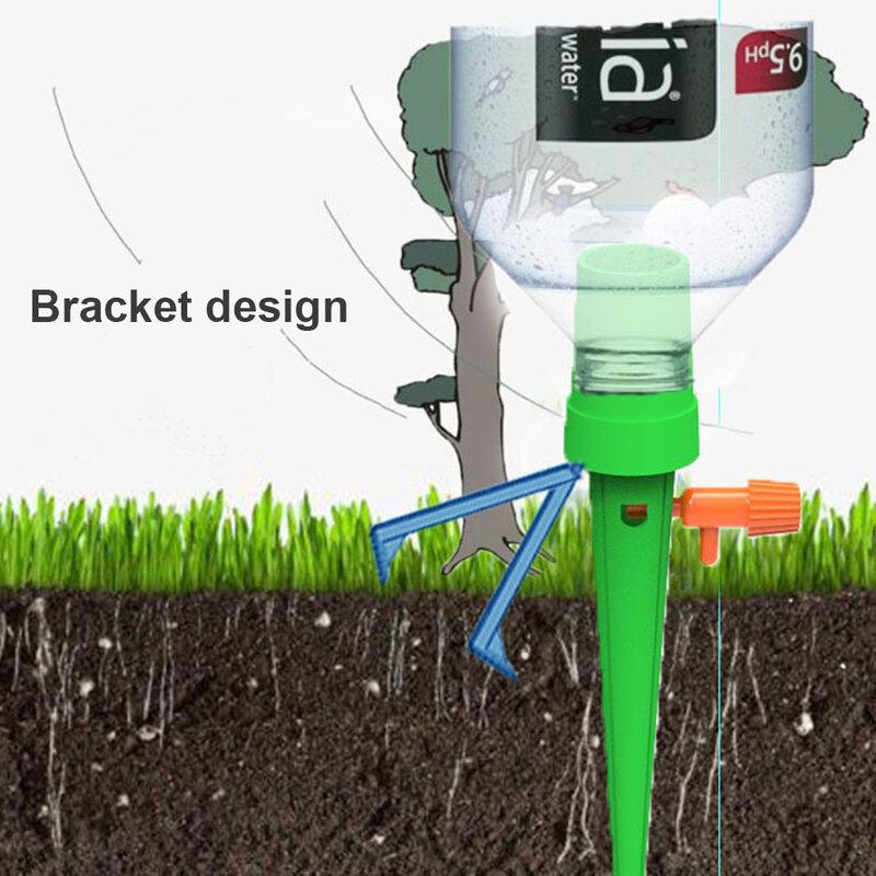 1/12PCS 자동 물방울 관개 도구 스파이크 자동 꽃 식물 정원 급수 키트 조정 가능한 물 자체 급수 장치
