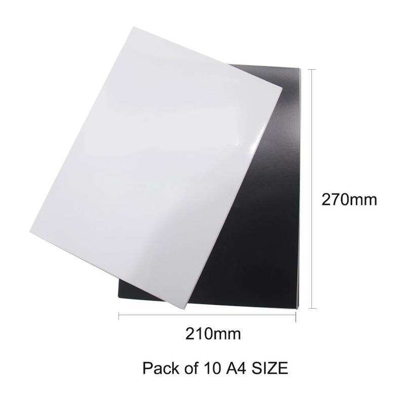 5 teile/los A4 Magnetische Foto Papier Druckbare Blatt Kühlschrank Magneten Aufkleber Inkjet Magnet Bild Papier Matte Finish Drucker Papier