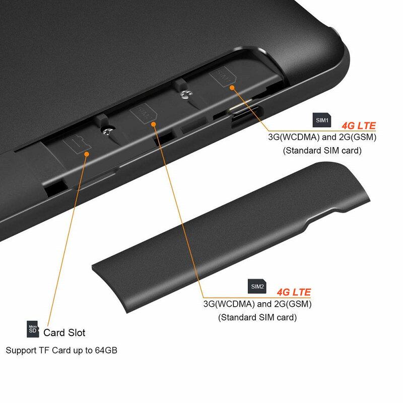 Nieuwste 10 Inch Tablet Android 9 0 Octa Core 8gb Ram 128gb Rom 3g 4g Fdd Lte Wifi Bluetooth Gps Telefoontje Glas Screen Tablet Pc Bestdealplus