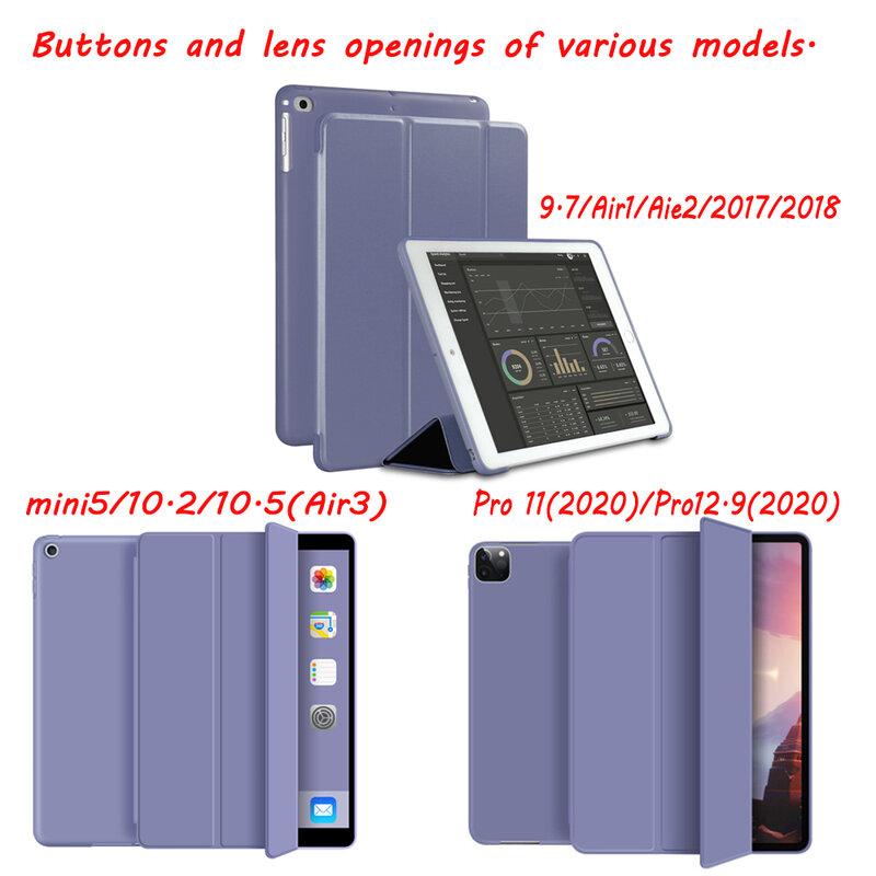 جراب سيليكون ناعم لجهاز iPad Air 2 Air 1 ، جراب خلفي لجهاز iPad 10.2 2019 / Pro 11 Pro 12.9 2020 / Air 3 10.5 / 9.7 2018