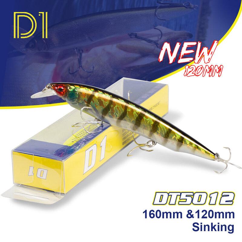 D1Fishing Tackle 2020 Wobbler ทังสเตนลูกปัด160มม.120มม.จมอุปกรณ์ตกปลา Sea Bass Pike Kanata Ratlin สำหรับตกปลา