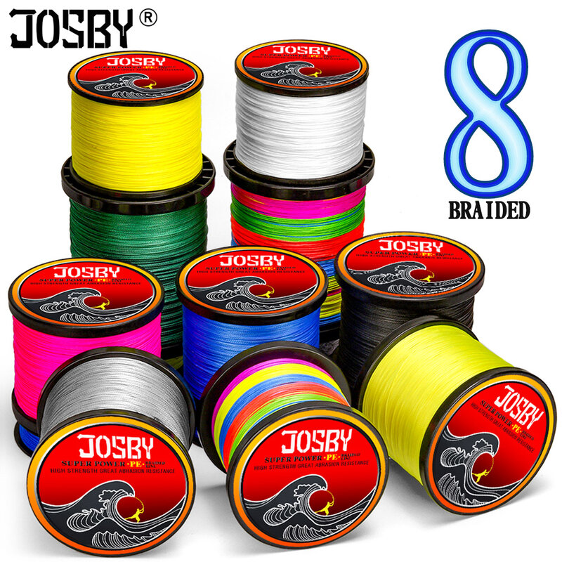 JOSBY Pesca Fly Fishing Line 8 Strandปลาคาร์พPE Braided Wire Peche Sea Spinning Multifilamento 12 ~ 120LB 1000M 500M 300M 150M