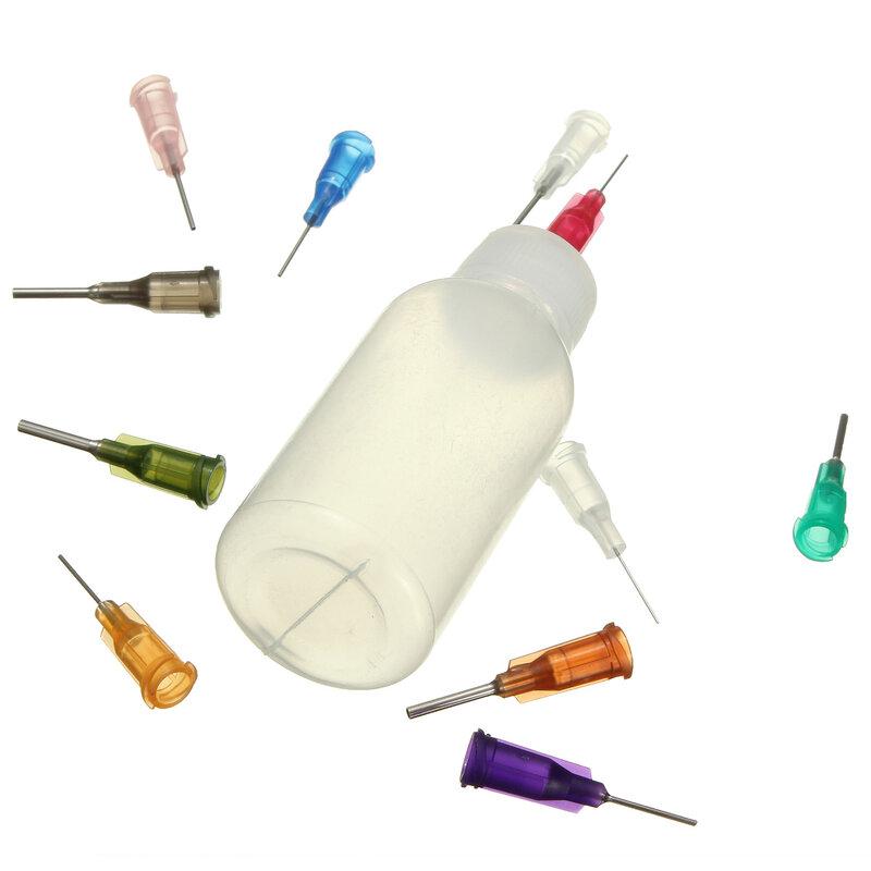 زجاجة شفافة من البولي ايثيلين مع 11 إبرة 30 مللي ، موزع معجون تدفق لحام الصنوبري ، جديد