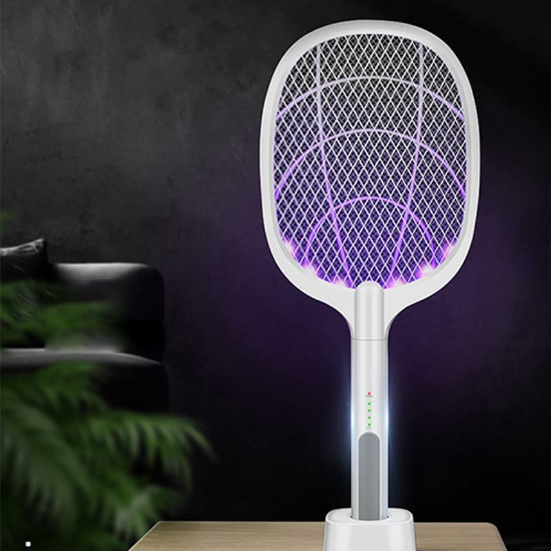 Heißer Verkauf 3000V Elektrische Insekten Schläger Klatsche Zapper USB 1200mAh Wiederaufladbare Moskito-klatsche Töten Fly Bug Zapper Mörder trap