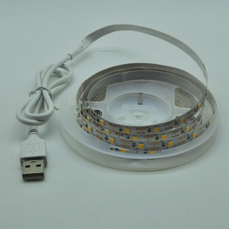 Cintas de luz LED de infrarrojos USB Control RGB SMD2835 DC5V 1M 2M 3M 4M 5M lámpara Flexible cinta de iluminación de fondo de TV luces LED