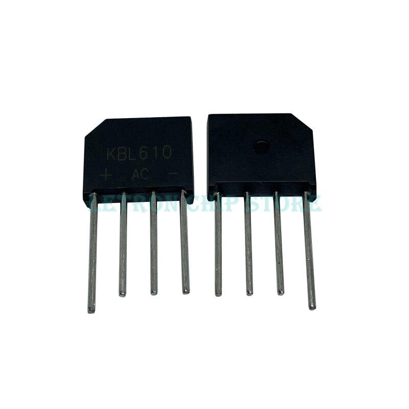 10PCS KBL406 KBL410 KBL608 KBL610 RS407 RS507 4A 5A 6A 600V 800V 1000V 다이오드 브리지 정류기