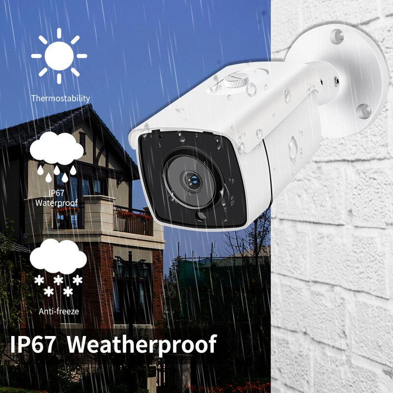جديد 4K الترا HD 8MP IP كاميرا في الهواء الطلق مقاوم للماء POE H.265 Onvif المعادن رصاصة CCTV الرئيسية 4MP صفيف الأشعة تحت الحمراء كاميرا الأمن