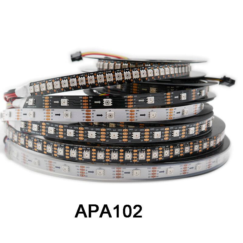 Tira de píxeles led inteligente, de datos y reloj, por separado, DC5V APA102, 1m/3m/5m;30/60/144 led/pixeles/m;IP30/IP65/IP67