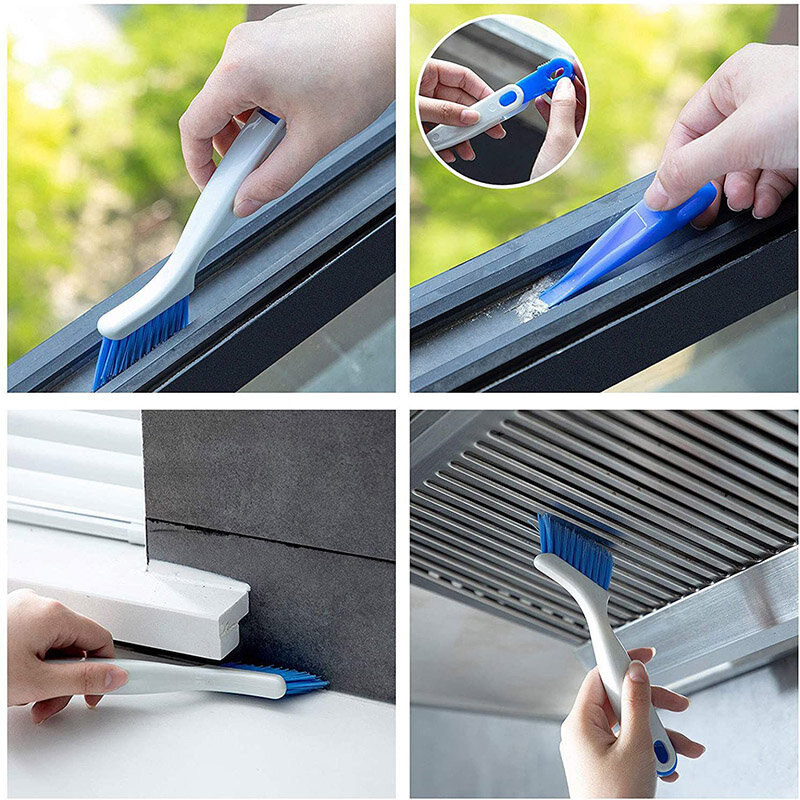 2 stücke Set Nut Lücke Reinigung Pinsel Werkzeuge Tür Fenster Track Küche Reinigung Pinsel Haus Reinigung Hand Werkzeug