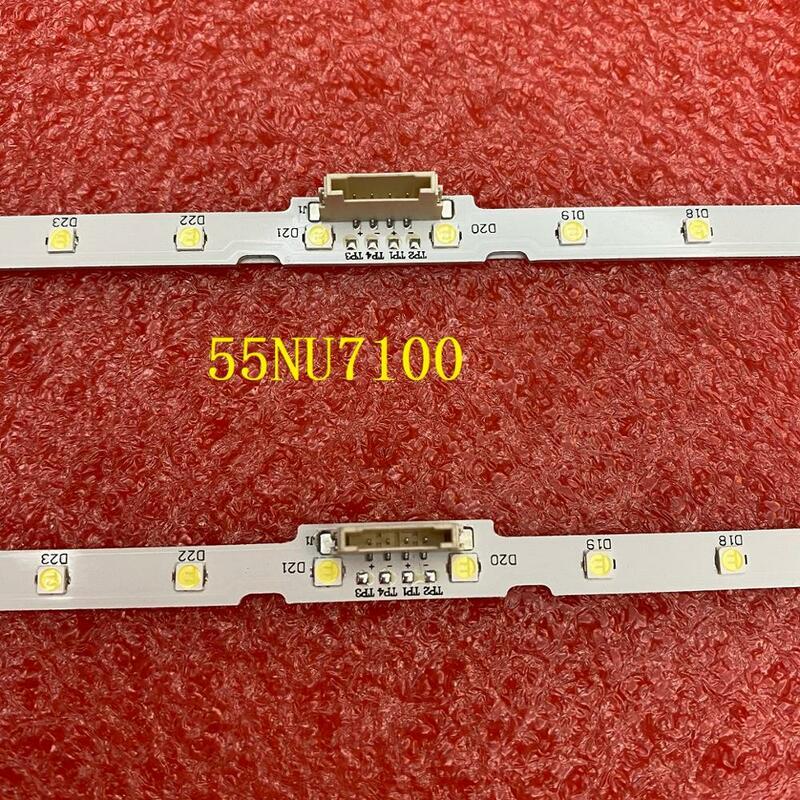 2 개/대 LED 백라이트 스트립 삼성 UE55NU7100 UN55RU7100 UA55NU7100 UN55NU7200 UA55NU7300 UE55NU7370 UE55NU7455 UE55NU7102